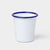 Falcon Original Enamel Tumbler - White with Blue Rim