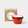 Falcon Original Enamel 12cm Bowls - Pillarbox Red - Set of Four