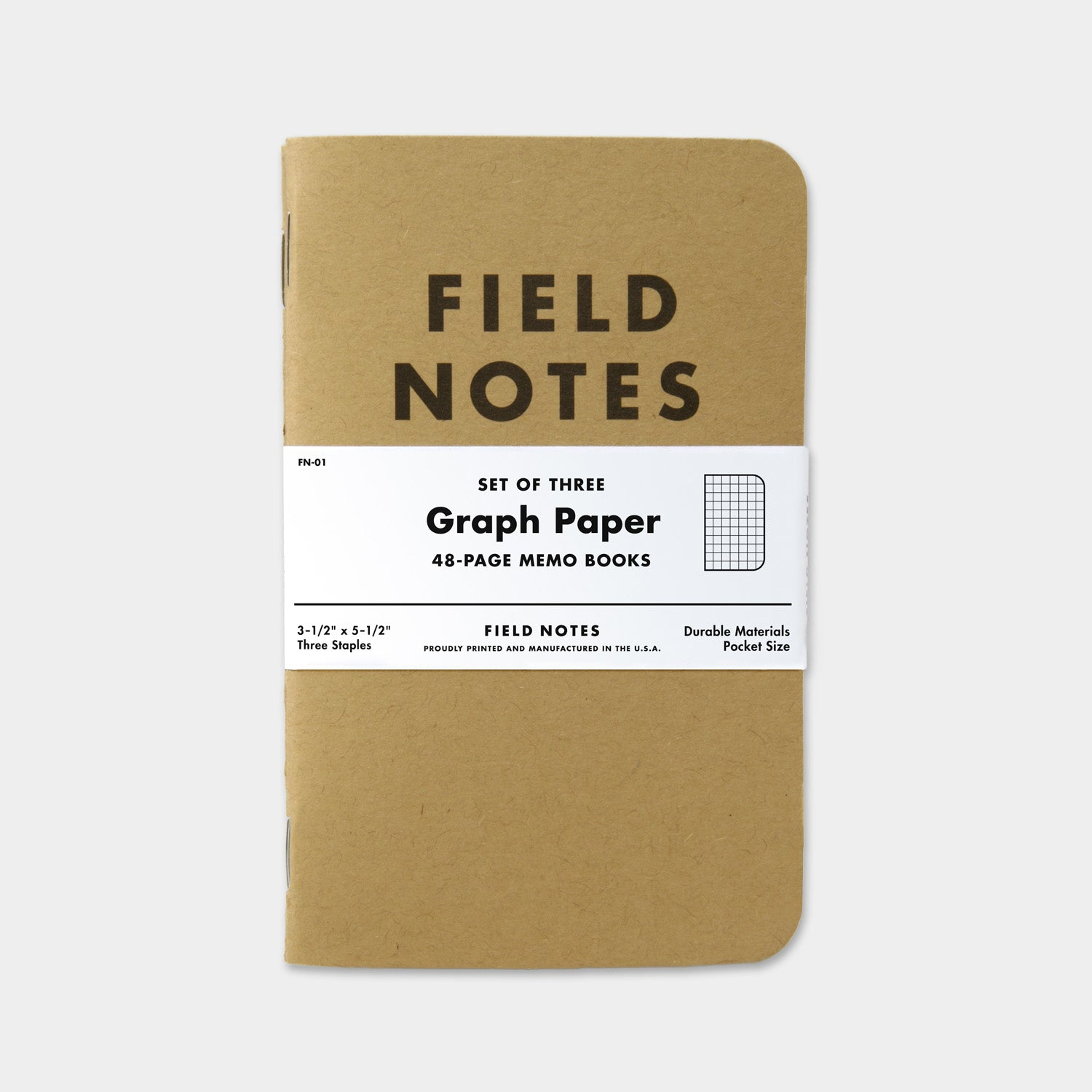 Field Notes Original Kraft Graph 3 Pack