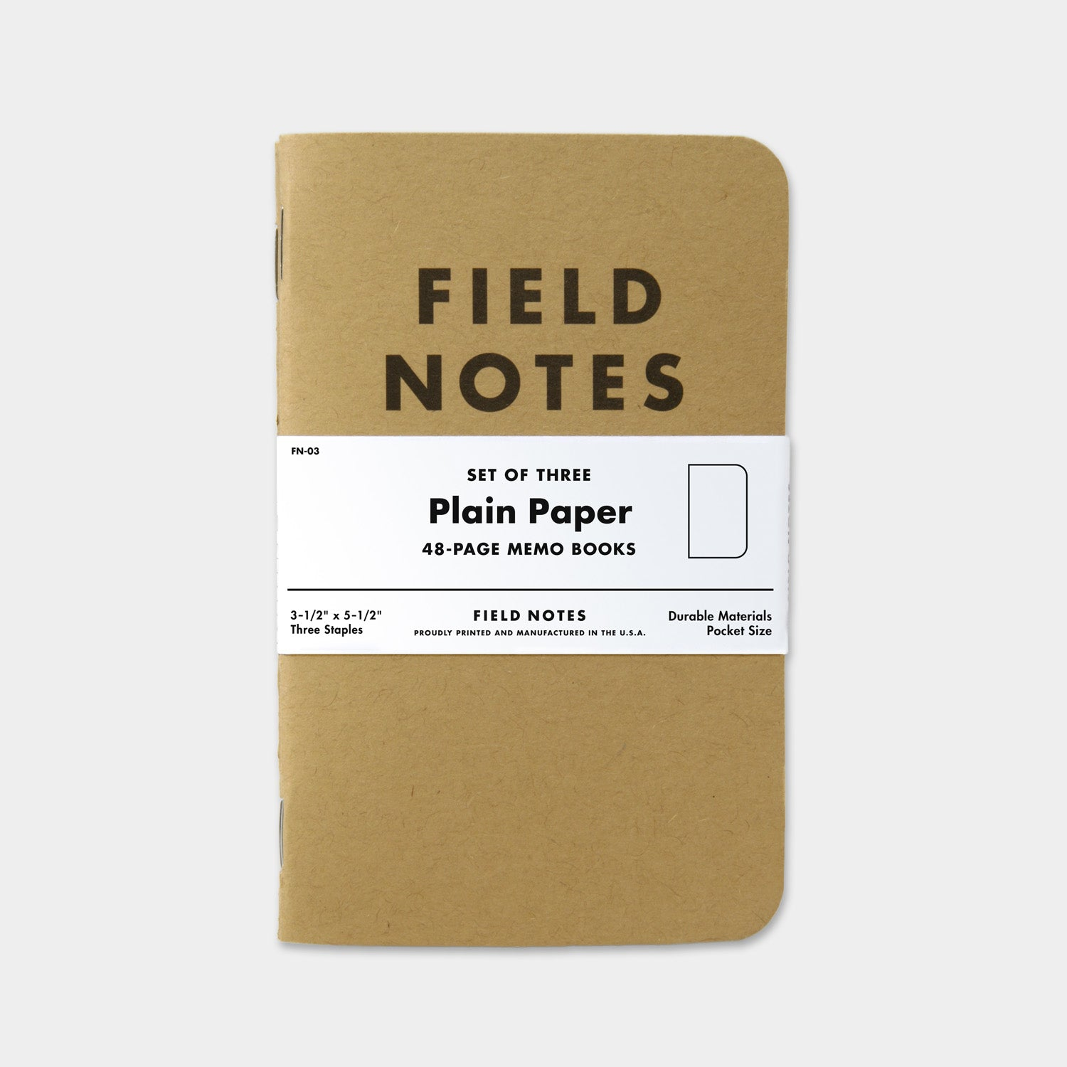 Field Notes Original Kraft Plain 3 Pack