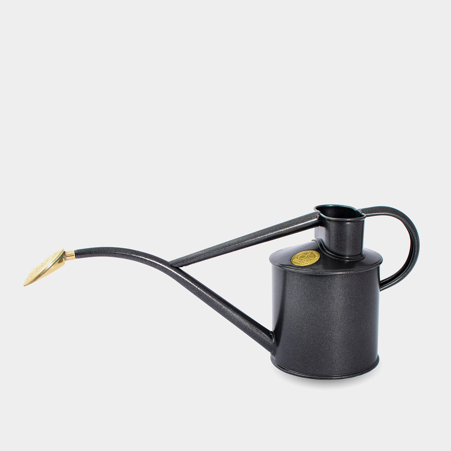 Haws Indoor Metal Watering Can 1 Litre | Graphite
