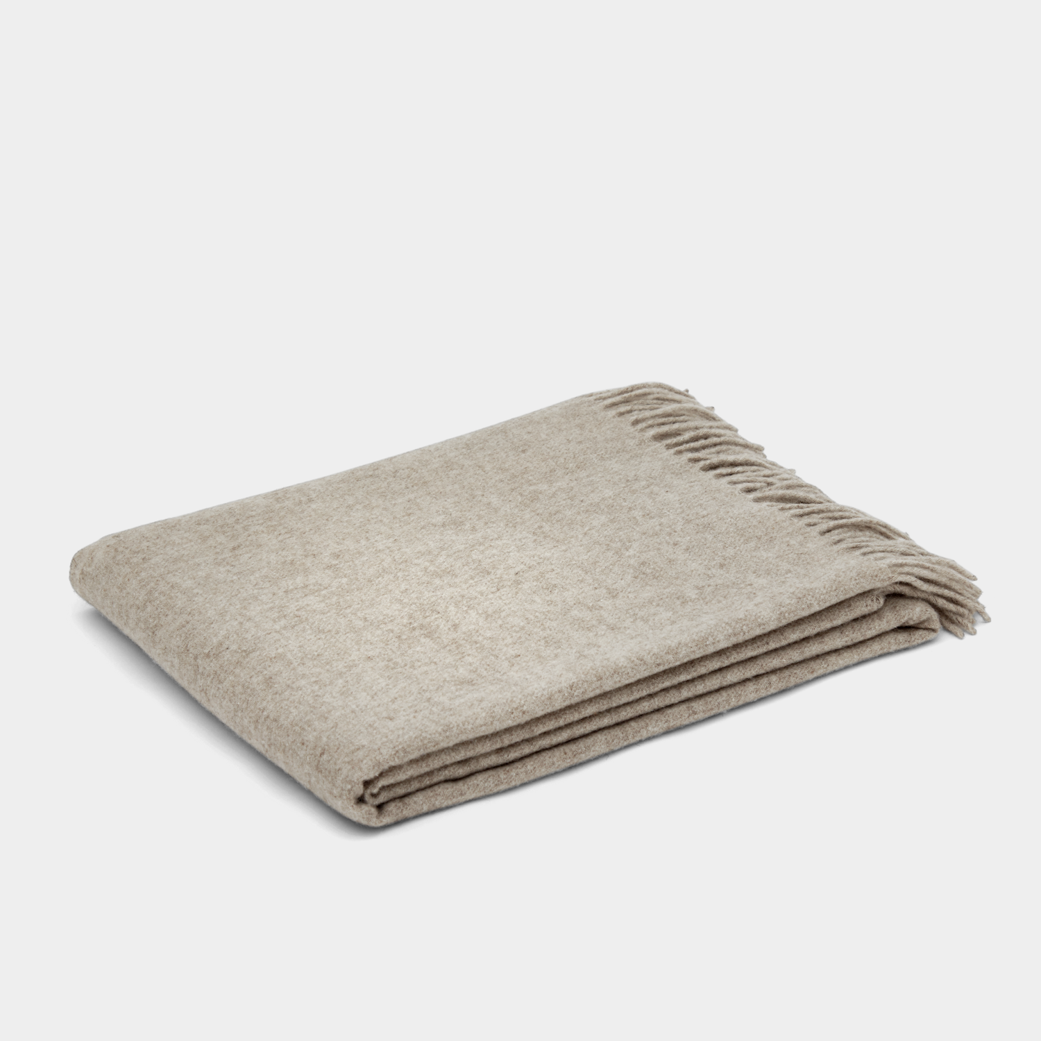 Klippan Gobi Mongolian Merino Wool Throw - Sand