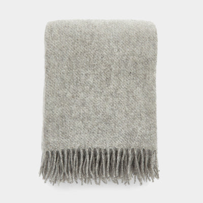 Klippan Gotland Wool Throw - Natural Grey