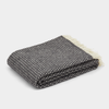 Klippan Knut Brushed Lambs Wool Throw - Dark Grey