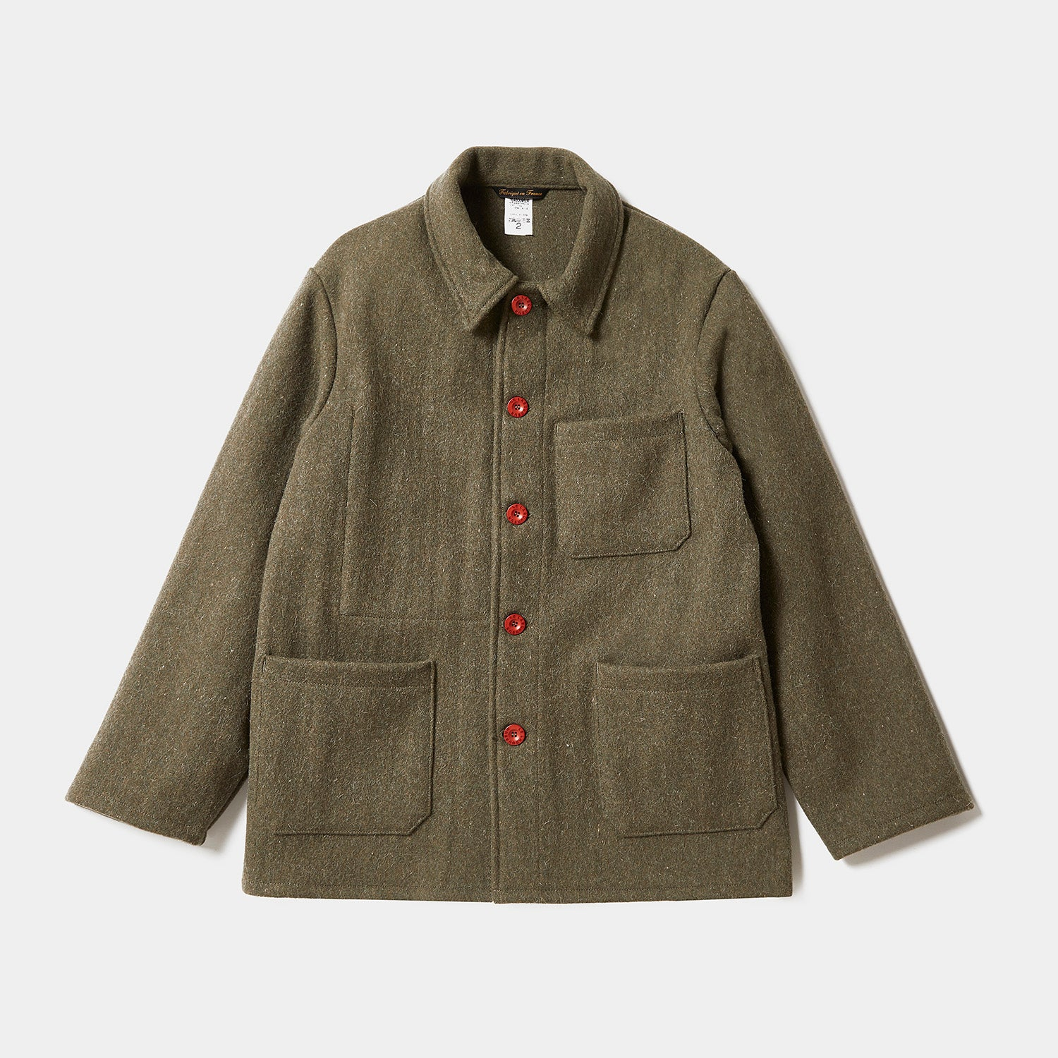 Le Laboureur Wool Work Jacket - Khaki