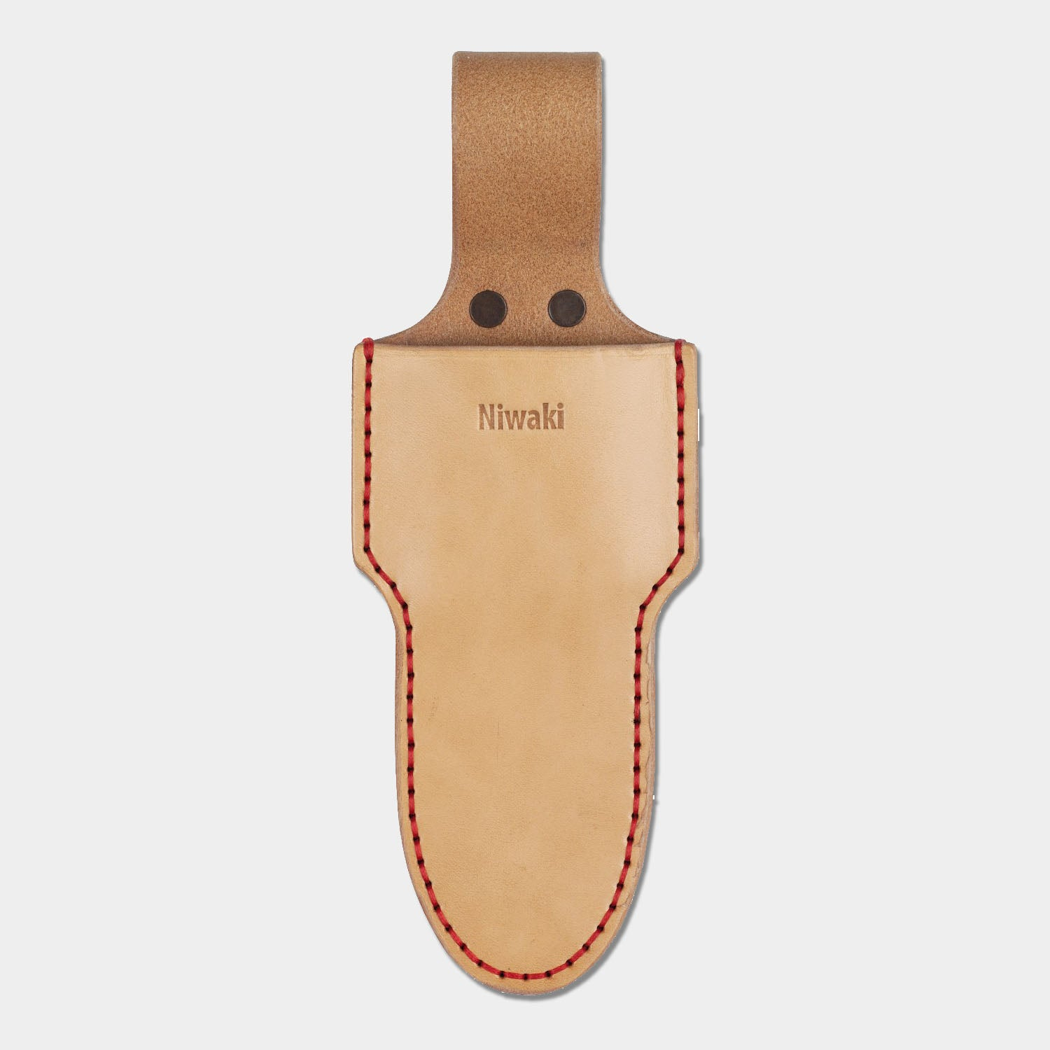 Single leather holster for secateurs and snips by Niwaki