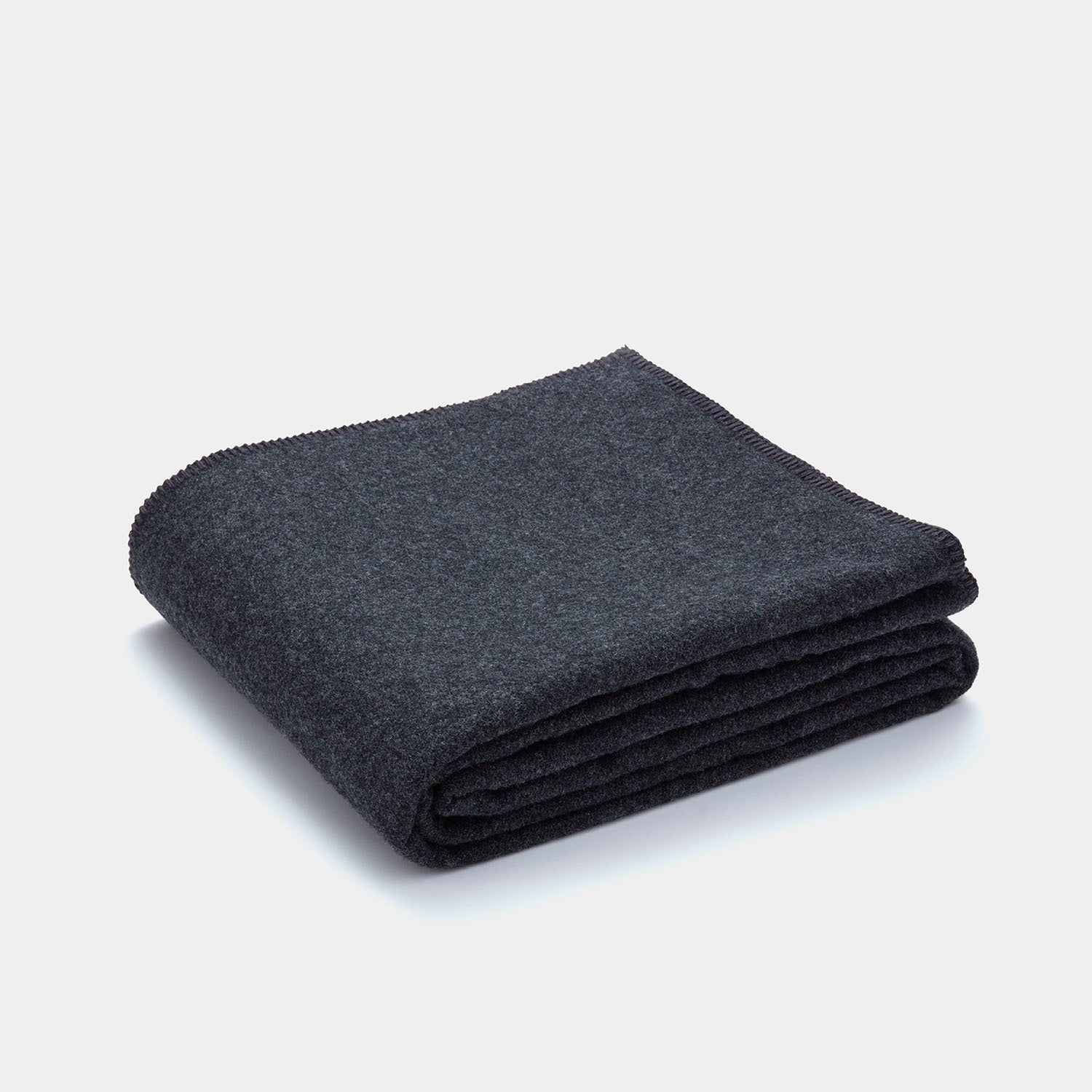 Pendleton Eco-Wise Wool Solid Blanket - Charcoal
