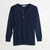 Merz b. Schwanen 206 Long Sleeve Henley - Ink Blue - Wood & Meadow