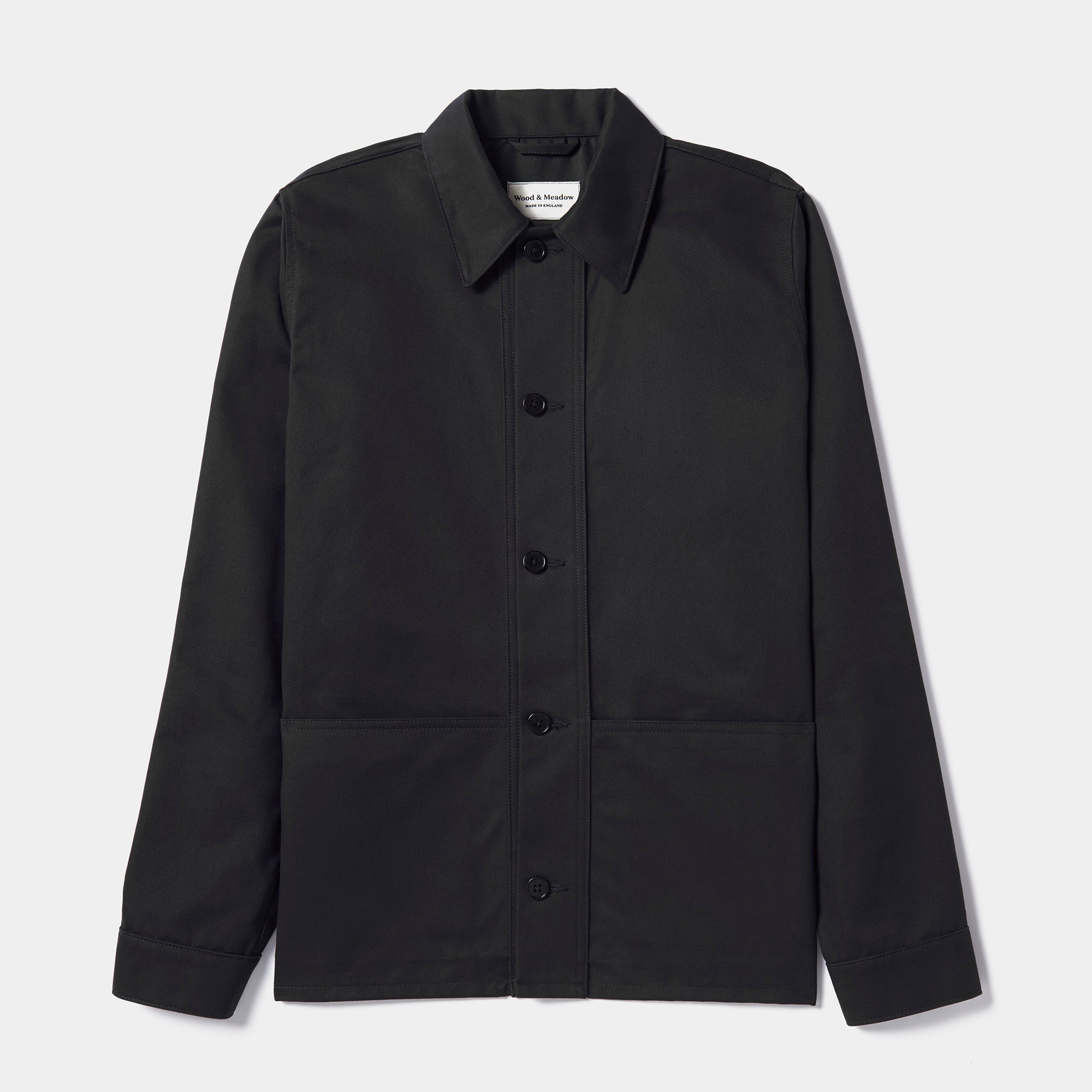 Wood & Meadow Work Jacket in Black Drill