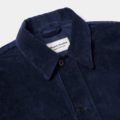 Wood & Meadow Work Jacket in Dark Navy Corduroy