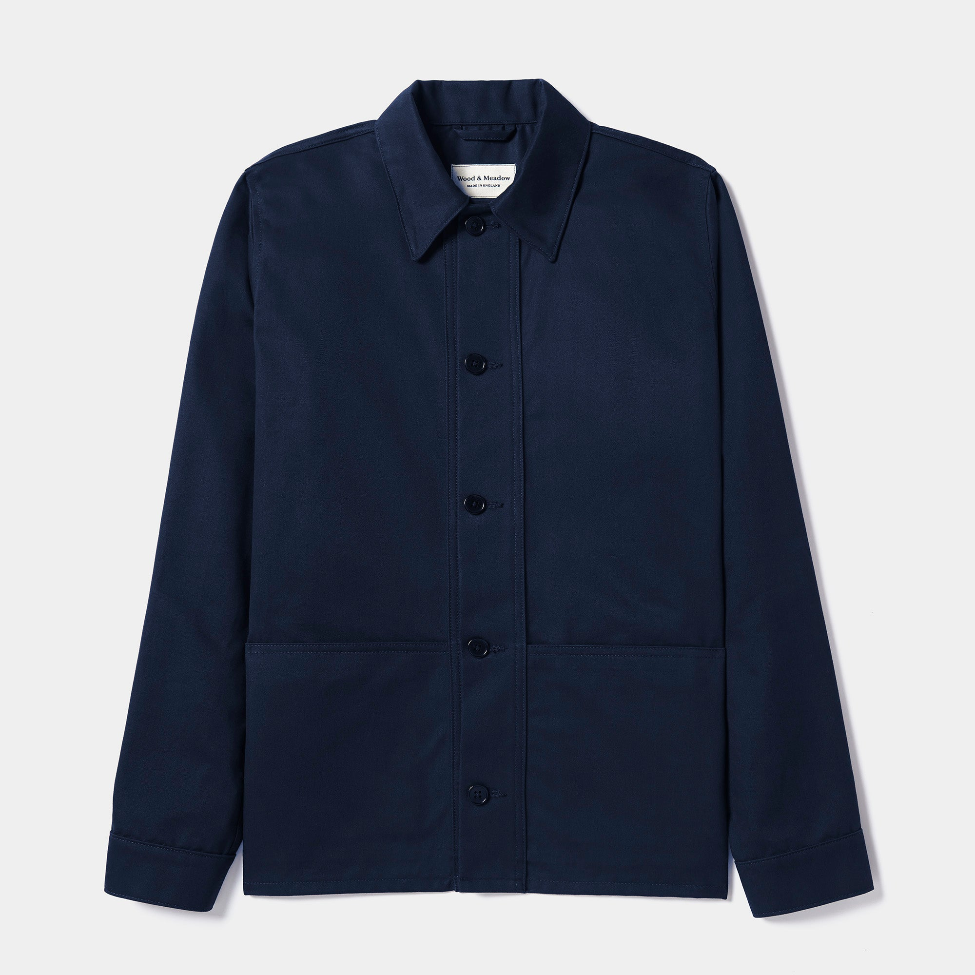Wood & Meadow Work Jacket in Dark Navy Cotton Drill - Gardener's Jacket