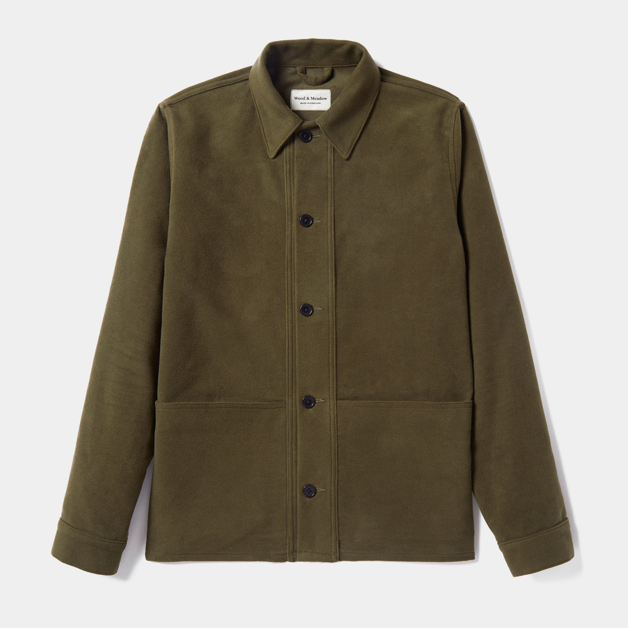 Wood & Meadow Work Jacket in Moss Moleskin
