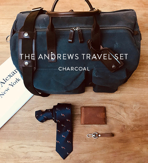 Ernest Box | The Andrews Travel Set (Charcoal)