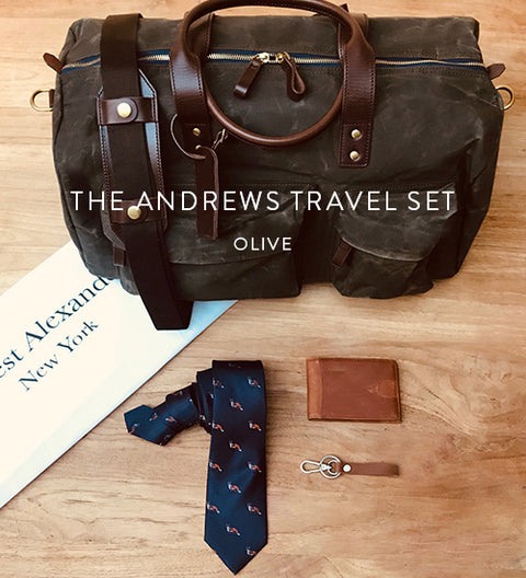 Ernest Box | The Andrews Travel Set (Olive)