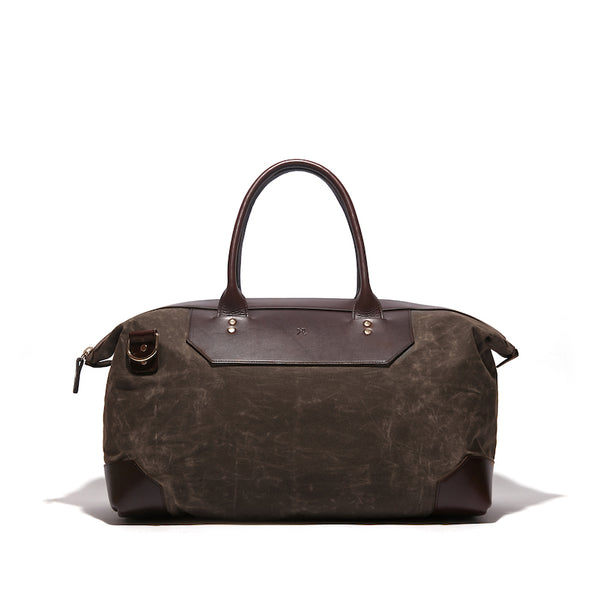 Banker's Waxed Canvas Weekend Bag - Ernest Alexander