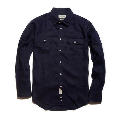 The Mitchell Shirt | Navy Linen