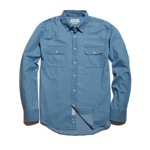 The Mitchell Shirt | Washed Denim