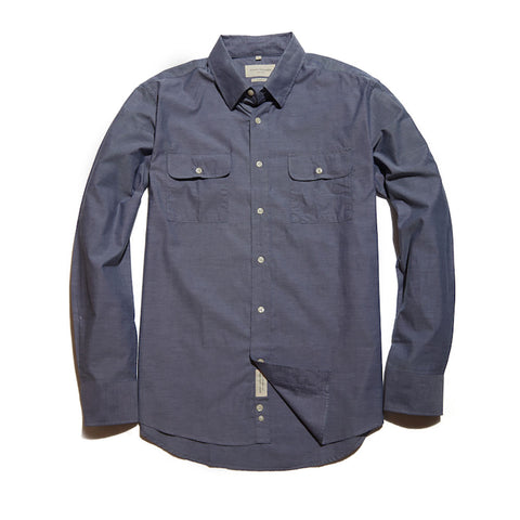 The Mitchell Shirt | Deep Blue Chambray