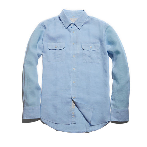The Mitchell Shirt | Light Blue Linen