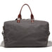 The Bedford Weekend Duffle - Charcoal Wax Twill - Ernest Alexander