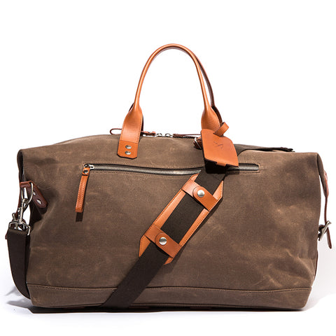 The Bedford Weekender Bag - Tobacco Wax Twill - Ernest Alexander