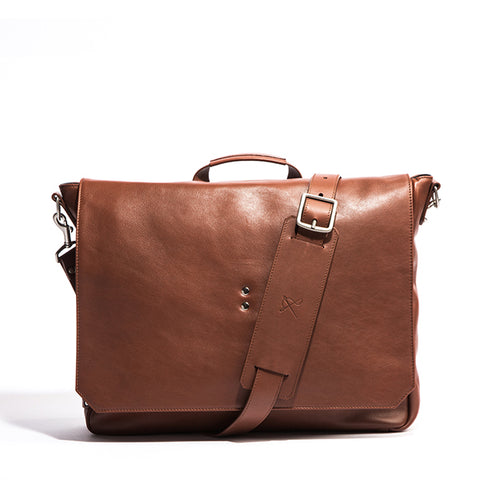 Walker British Brown Leather Brief Bag - Ernest Alexander