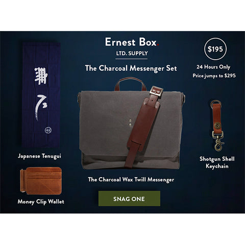 Ernest Box: Charcoal Messenger Set - Ernest Alexander