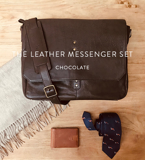 Ernest Box | The Leather Messenger (Chocolate)