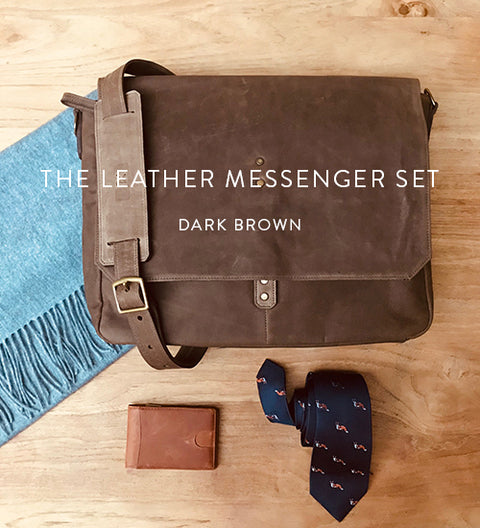 Ernest Box | The Leather Messenger (Dark Brown)