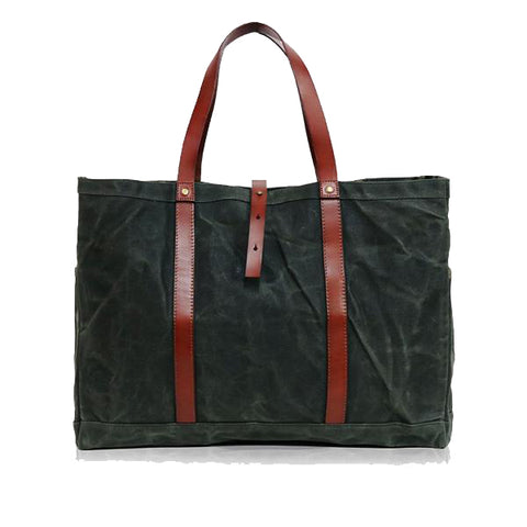 Porter Wax Tote - Hunter Green - Ernest Alexander
