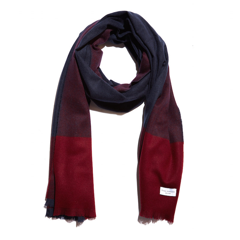 The Blake Scarf | Red/Navy