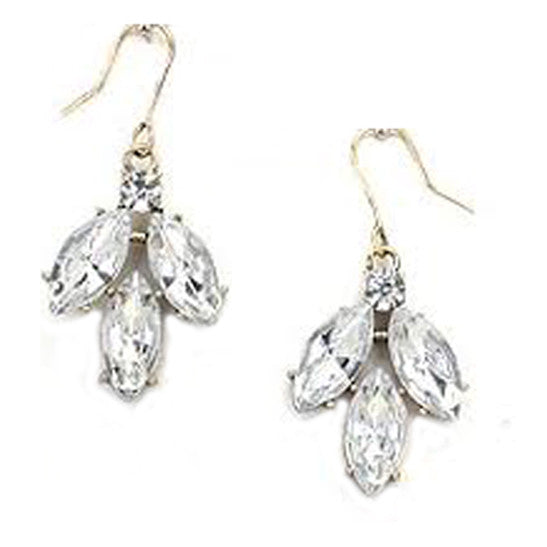 Crystal Triple Drop Earring