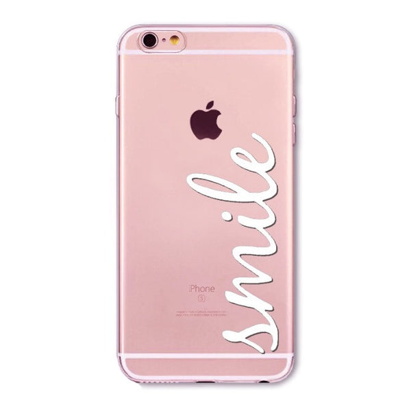 cursive smile iphone case