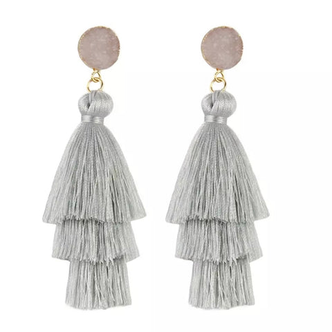 Rosie Earring Light Gray