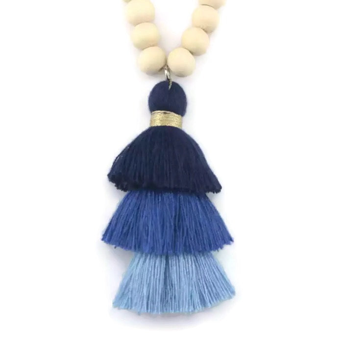 Bree Tassel Necklace Lapis