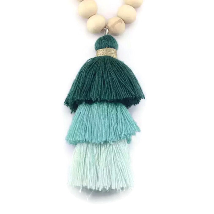 Bree Tassel Necklace Turquoise
