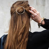 Gold Circle Hair Clip