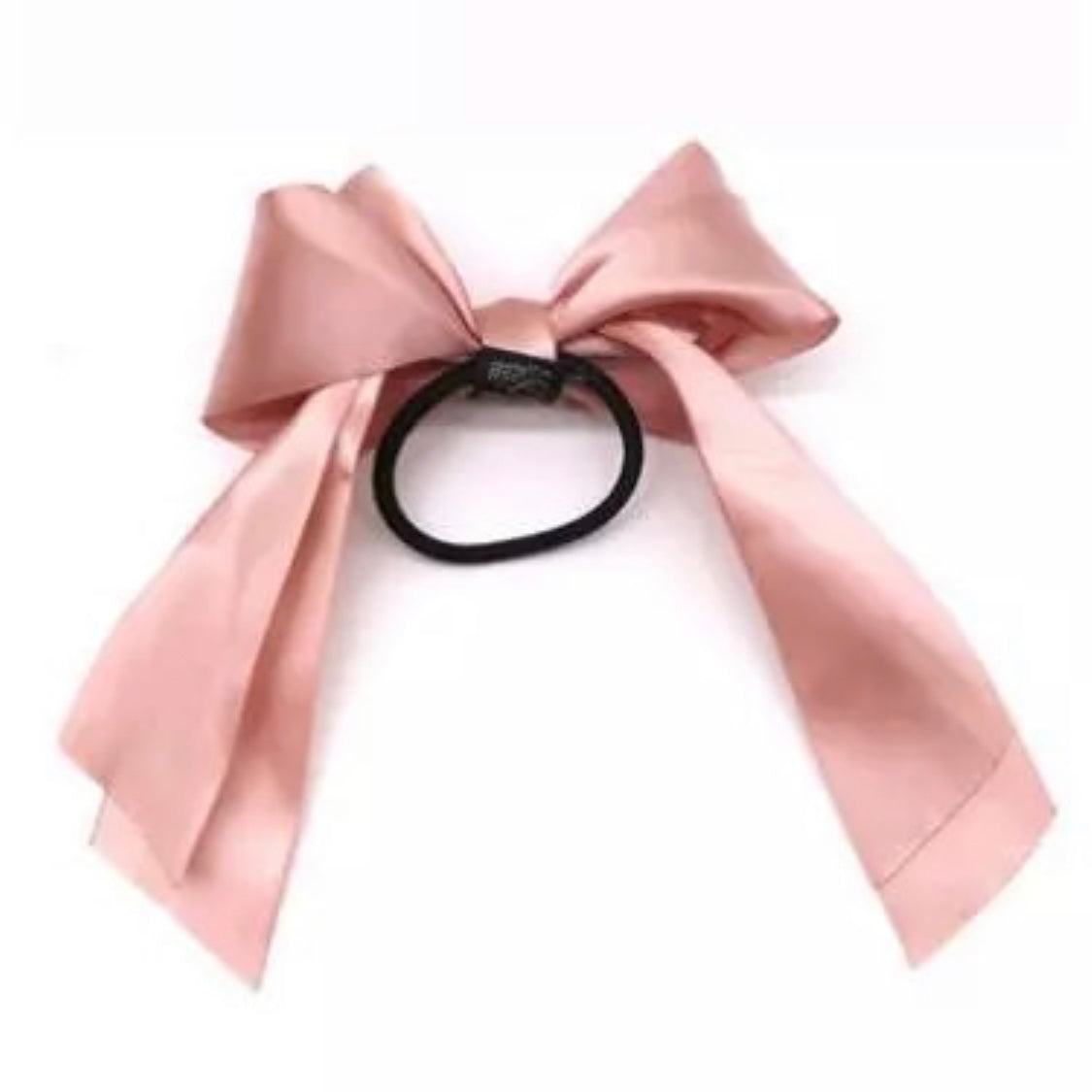 Satin Ribbon Bow Blush