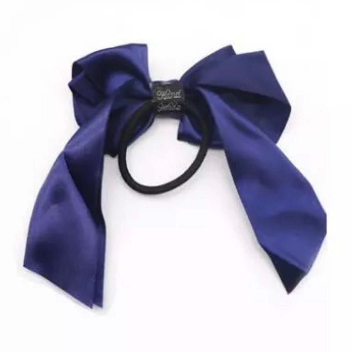 Satin Ribbon Bow Navy