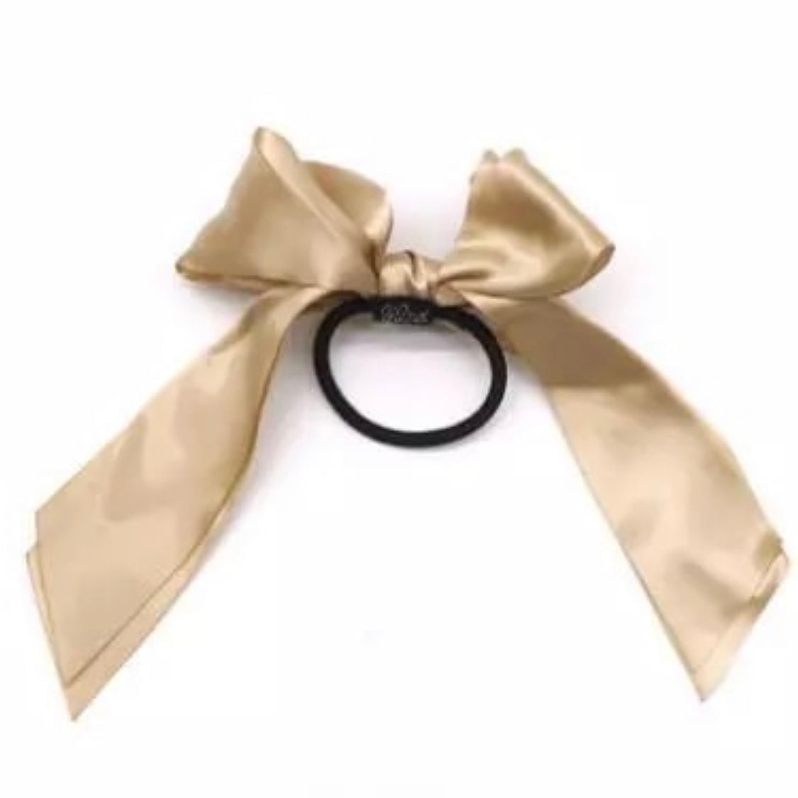 Satin Ribbon Bow Taupe