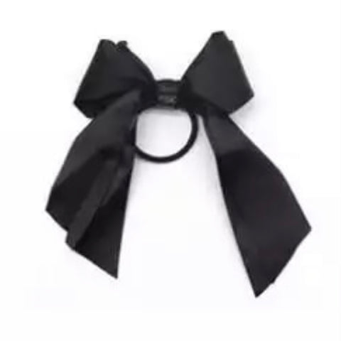 Satin Ribbon Bow Ebony