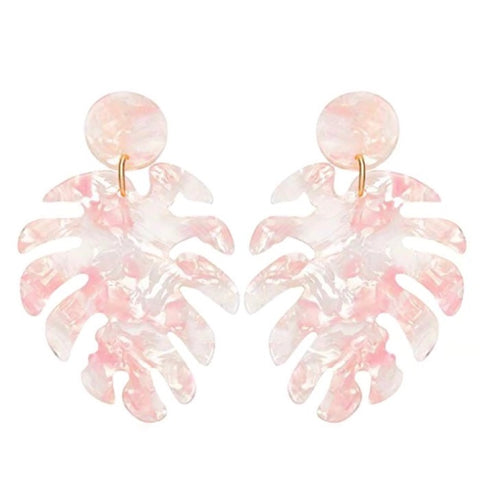 Palm Leaf Earring Blush