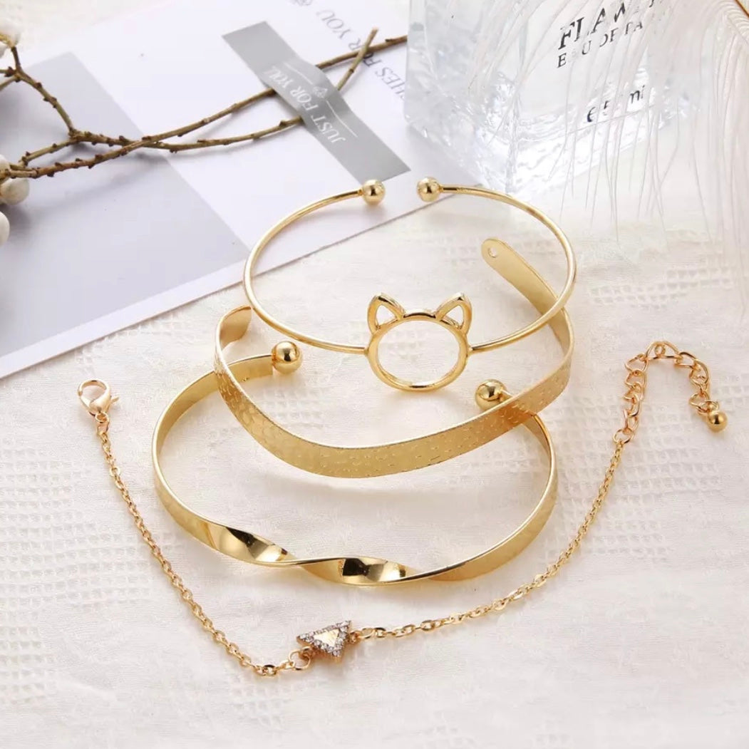 Kitty Bracelet Set