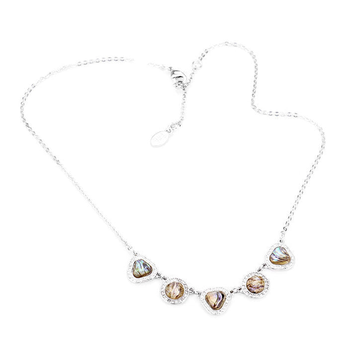 Station Necklace Rhodium