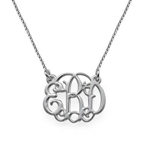 Mini Classic Monogram Necklace silver
