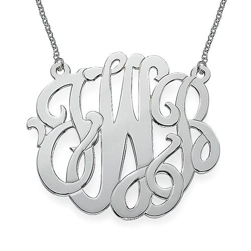 Grande Modern Monogram Necklace