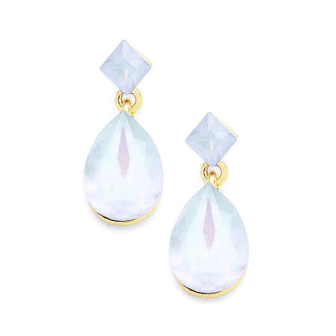 Alexis Earring Pale Opal Blue