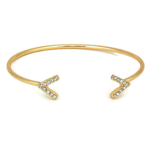 pave arrow cuff