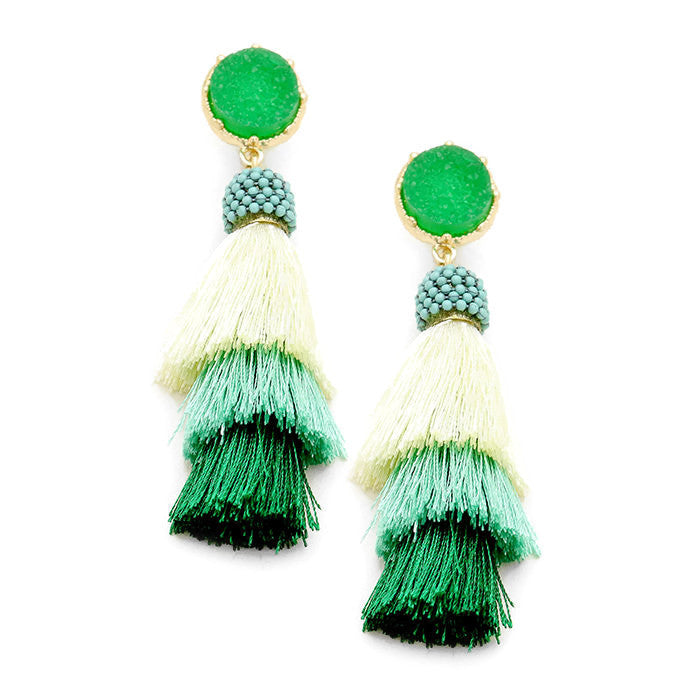 Camila Earring Green