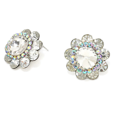 Crystal Flower Stud